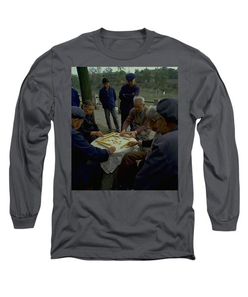 Long Sleeve T-Shirt featuring the photograph Mahjong In Guangzhou by Travel Pics