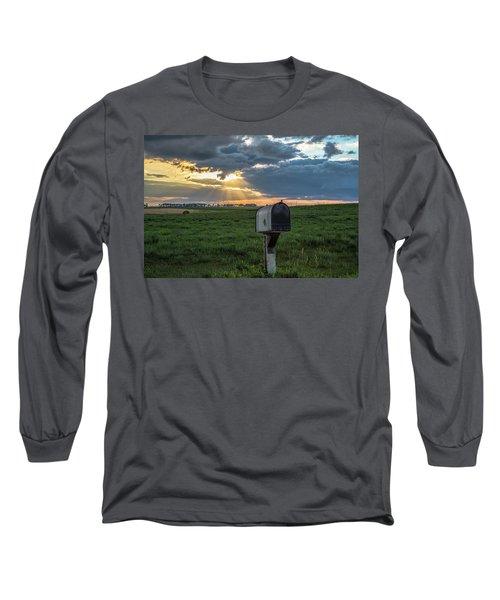 Mail Box In North Dakota  Long Sleeve T-Shirt