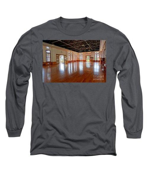 Main Room Of The Wu De Martial Arts Hall Long Sleeve T-Shirt by Yali Shi