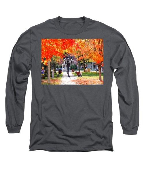 Main Street In The Fall Long Sleeve T-Shirt