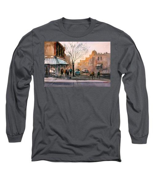 Main Street - Steven's Point Long Sleeve T-Shirt by Ryan Radke