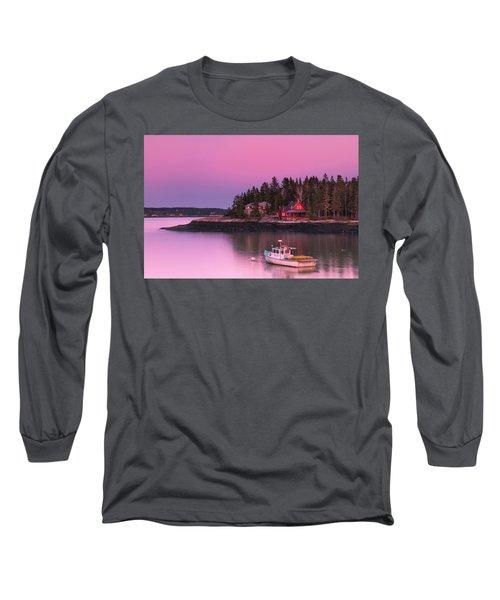 Maine Five Islands Coastal Sunset Long Sleeve T-Shirt