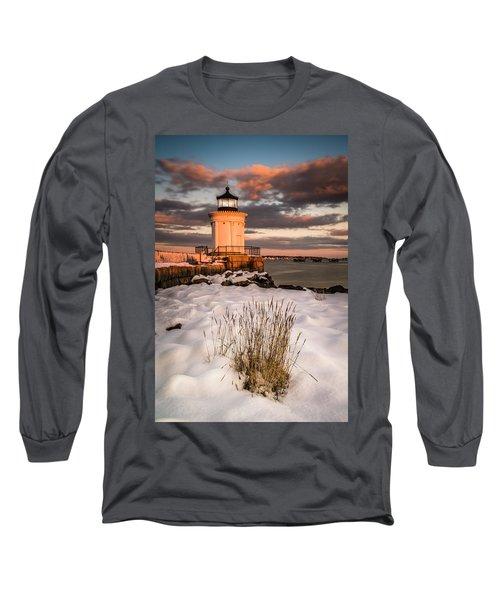 Maine Portland Bug Light Lighthouse Sunset  Long Sleeve T-Shirt