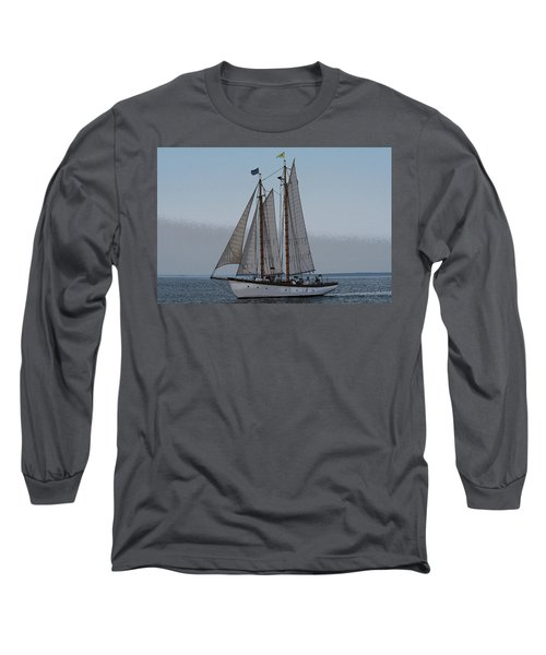 Maine Schooner Long Sleeve T-Shirt