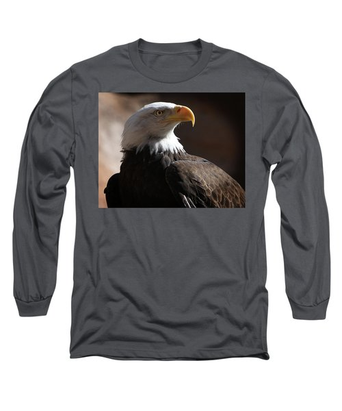 Majestic Eagle Long Sleeve T-Shirt by Marie Leslie