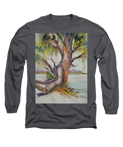 Majestic Live Oak  Long Sleeve T-Shirt by P Anthony Visco
