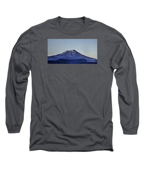 Long Sleeve T-Shirt featuring the photograph Majestic Mt Shasta by Nancy Marie Ricketts