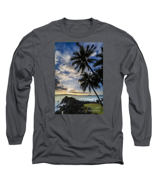 Makena Maui Hawaii Sunset Long Sleeve T-Shirt