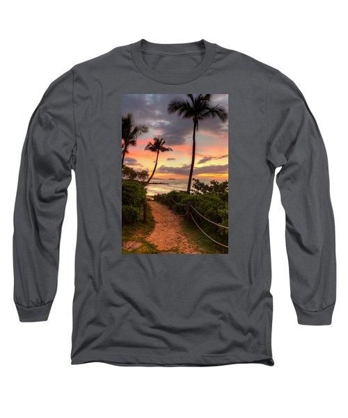 Makena Sunset Path Long Sleeve T-Shirt