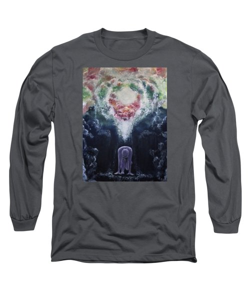 Long Sleeve T-Shirt featuring the painting Making Angels by Cheryl Pettigrew