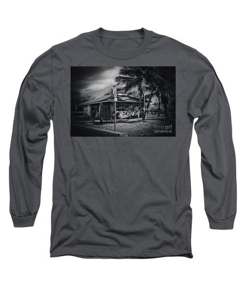 Long Sleeve T-Shirt featuring the photograph Mala Wharf Showers Lahaina Maui Hawaii by Sharon Mau