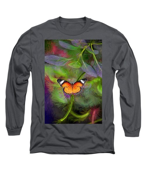 Malay Lacewing  What A Great Place Long Sleeve T-Shirt