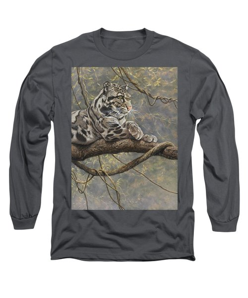 Male Clouded Leopard Long Sleeve T-Shirt