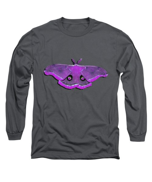 Male Moth Pink .png Long Sleeve T-Shirt by Al Powell Photography USA