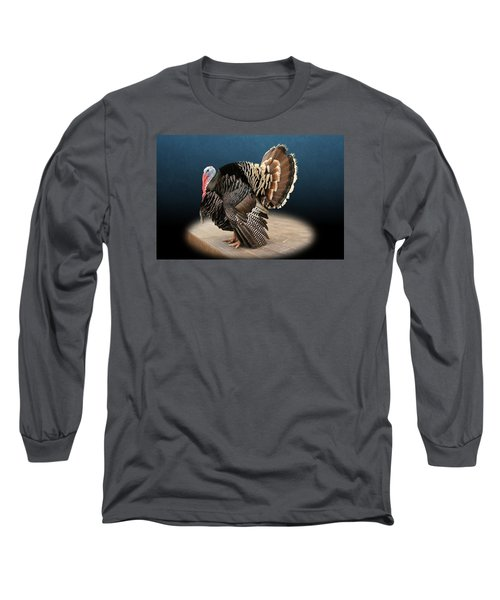 Male Turkey Strutting Long Sleeve T-Shirt