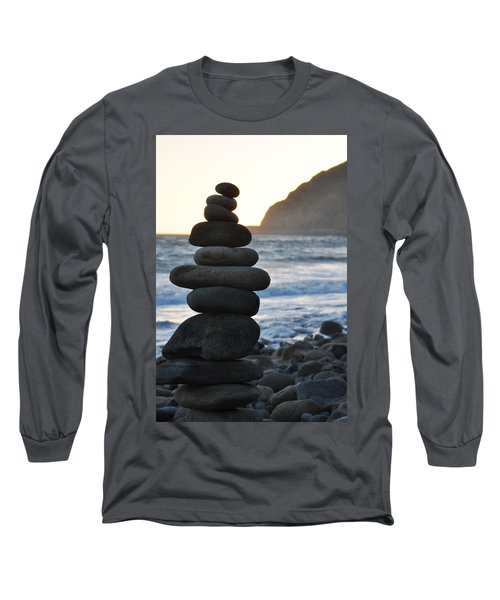 Long Sleeve T-Shirt featuring the photograph Malibu Balanced Rocks by Kyle Hanson