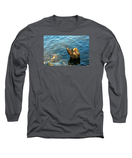 Mallard Duck In The Fox River Long Sleeve T-Shirt