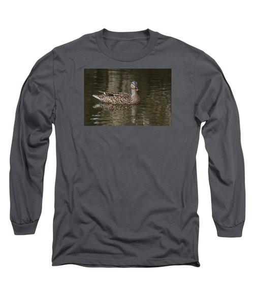 Mallard Hen Long Sleeve T-Shirt by Elaine Malott