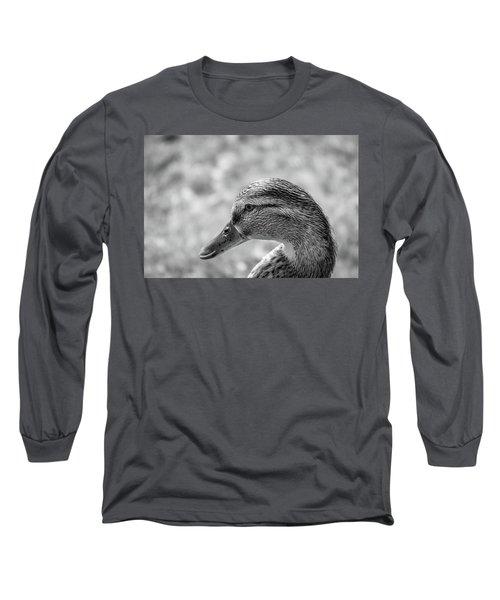 Mallard In Monochrome Long Sleeve T-Shirt