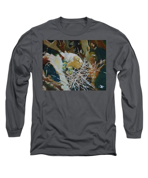 Mama And Babies Long Sleeve T-Shirt by Julie Todd-Cundiff