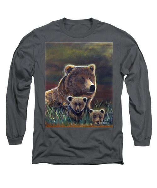 Long Sleeve T-Shirt featuring the painting Mammas Warmth by Leslie Allen