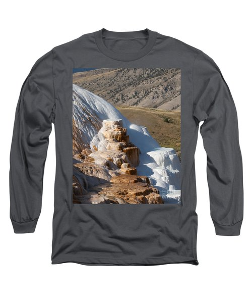 Mammoth Hot Springs  Long Sleeve T-Shirt