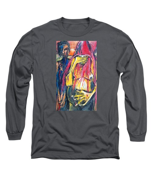 Man And Woman Pregnant Long Sleeve T-Shirt by Kenneth Agnello