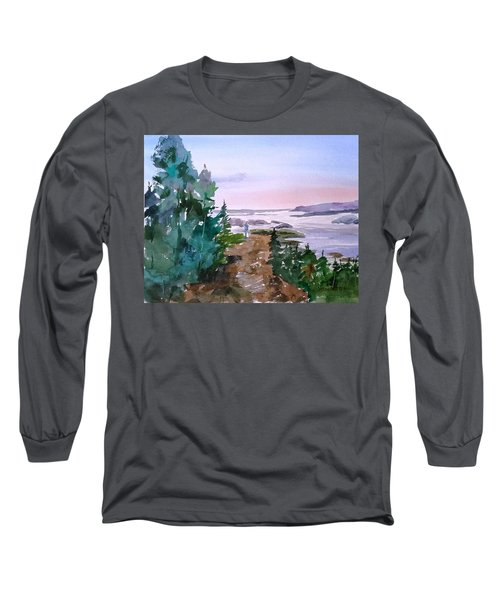 Man At Fraser Lake Bc Long Sleeve T-Shirt