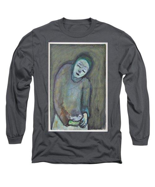 Man Holding Bird Long Sleeve T-Shirt