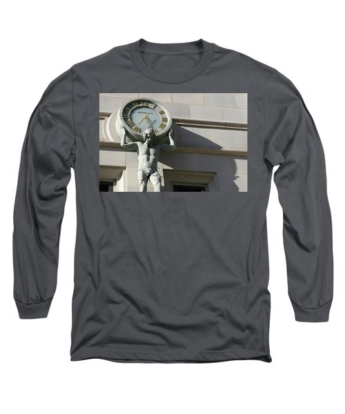 Man Holding Up Time Long Sleeve T-Shirt