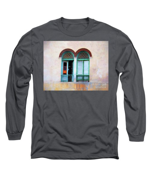 Long Sleeve T-Shirt featuring the mixed media Man In The Shadows by Jim  Hatch