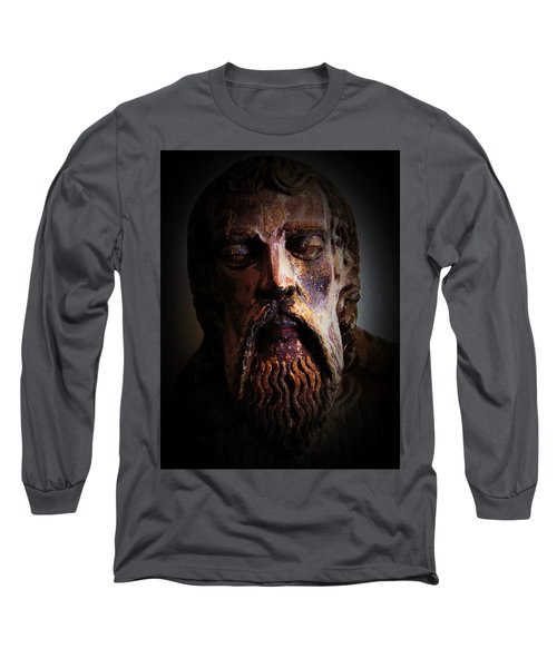 Long Sleeve T-Shirt featuring the photograph Man Of Color 1 by Maria Huntley