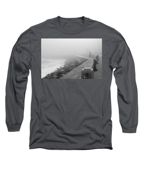 Man Waiting In Fog Long Sleeve T-Shirt