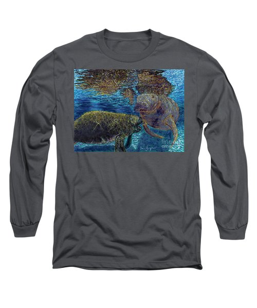 Manatee Motherhood Long Sleeve T-Shirt