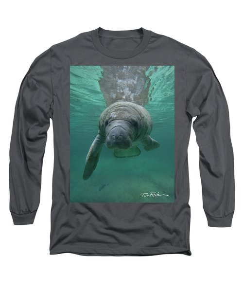 Manatee Long Sleeve T-Shirt by Tim Fitzharris
