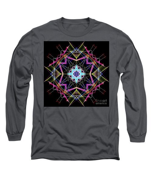 Long Sleeve T-Shirt featuring the digital art Mandala 3304a  by Rafael Salazar