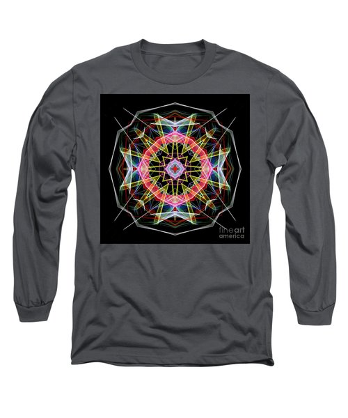 Long Sleeve T-Shirt featuring the digital art Mandala 3313 by Rafael Salazar