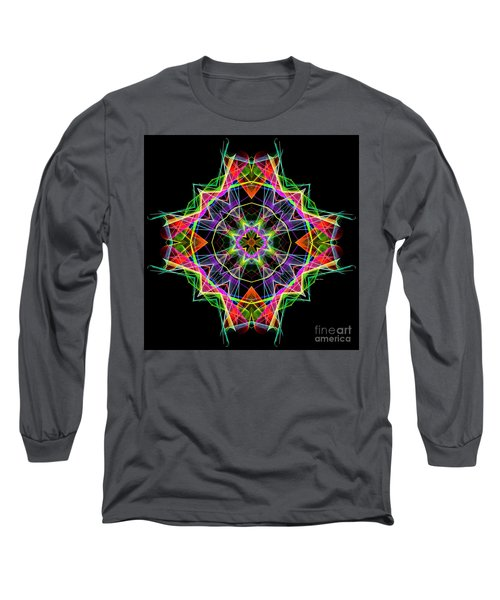 Long Sleeve T-Shirt featuring the digital art Mandala 3324a by Rafael Salazar