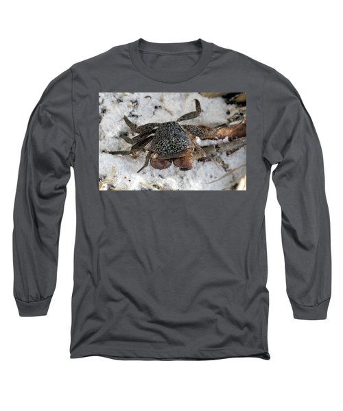 Long Sleeve T-Shirt featuring the photograph Mangrove Tree Crab by Doris Potter