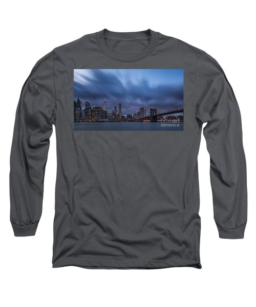 Manhattan And Brooklyn Bridge Long Sleeve T-Shirt