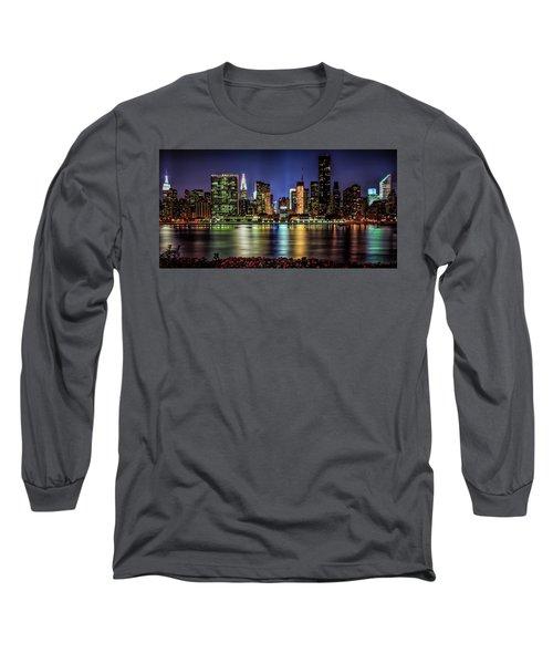Long Sleeve T-Shirt featuring the photograph Manhattan Beauty by Theodore Jones