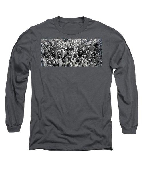 Manhattan  Long Sleeve T-Shirt by Chris Fraser