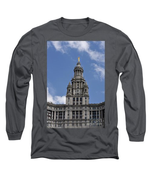 Long Sleeve T-Shirt featuring the photograph Manhattan City Hall by Judy Wolinsky