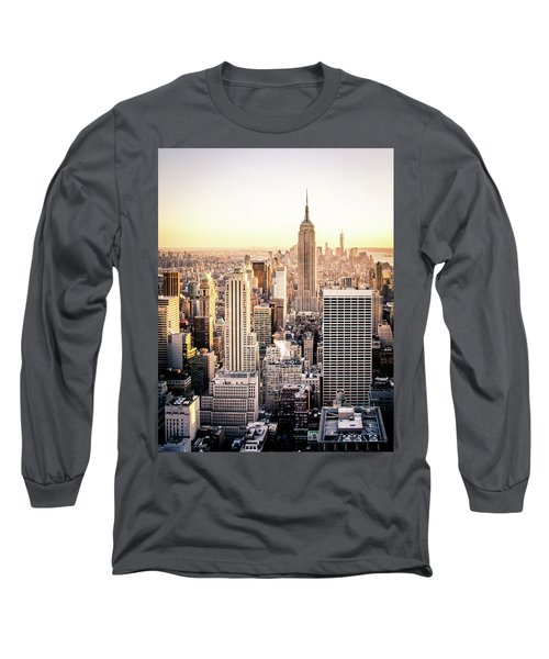 Manhattan Long Sleeve T-Shirt by Michael Weber