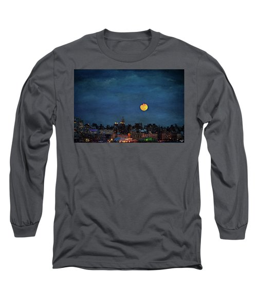 Manhattan Moonrise Long Sleeve T-Shirt