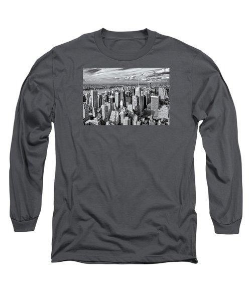 Long Sleeve T-Shirt featuring the photograph Manhattan  by Sabine Edrissi