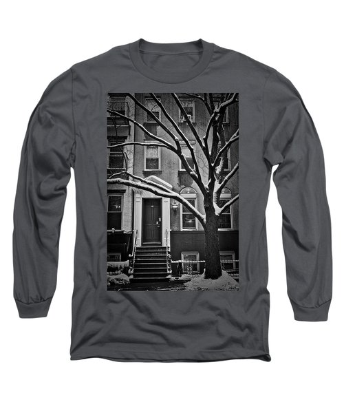 Manhattan Town House Long Sleeve T-Shirt by Joan Reese