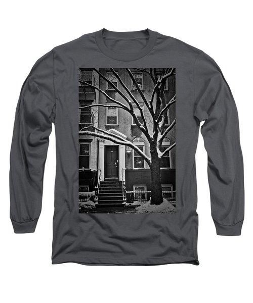 Manhattan Town House Long Sleeve T-Shirt by Joan Reese