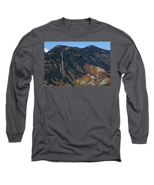 Manitou Incline Photographed From Red Rock Canyon Long Sleeve T-Shirt