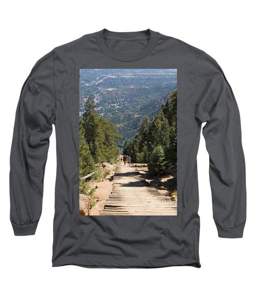 Manitou Springs Pikes Peak Incline Long Sleeve T-Shirt